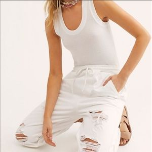 Free People Pants & Jumpsuits - Free People Sloane Destructed Joggers